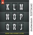 airport arrival table alphabet. ...   Shutterstock .eps vector #523726162