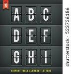 airport arrival table alphabet. ...   Shutterstock .eps vector #523726186