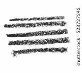 black wax crayon strokes... | Shutterstock .eps vector #523727242