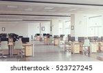 modern office interior . mixed... | Shutterstock . vector #523727245
