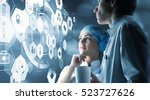 modern medical technologies... | Shutterstock . vector #523727626