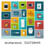 colored icons of home... | Shutterstock .eps vector #523728445