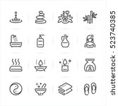 spa icons with white background  | Shutterstock .eps vector #523740385