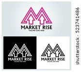 market rise logo design... | Shutterstock .eps vector #523741486