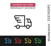 vector express delivery icon.... | Shutterstock .eps vector #523742092