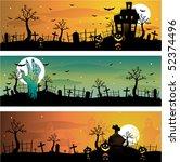 halloween banners | Shutterstock .eps vector #52374496