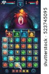 monster battle gui el diablo... | Shutterstock .eps vector #523745095