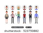 hipster style. business people... | Shutterstock .eps vector #523750882