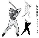 baseball player illustration | Shutterstock . vector #52375585