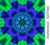 Fractal Kaleidoscope In Cool...