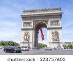 paris  france  on july 10  2016.... | Shutterstock . vector #523757602
