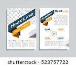 brochure design layout with... | Shutterstock .eps vector #523757722