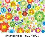 bright floral background | Shutterstock . vector #52375927