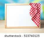 white board in frame with... | Shutterstock . vector #523760125