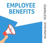 employee benefits announcement. ... | Shutterstock .eps vector #523760452