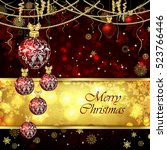 vector christmas card with...   Shutterstock .eps vector #523766446