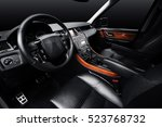 luxury car leather interior ...