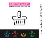vector shopping basket icon....
