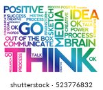 think word cloud collage ... | Shutterstock .eps vector #523776832