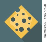 cheese flat style realistic...   Shutterstock .eps vector #523777468