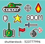 pixel art vector objects to...