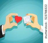 relationship between man and a... | Shutterstock .eps vector #523788322