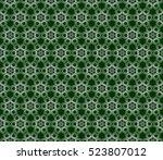 geometric flower. floral... | Shutterstock .eps vector #523807012