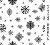 christmas seamless pattern.... | Shutterstock .eps vector #523808716