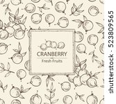 background with cranberry .... | Shutterstock .eps vector #523809565