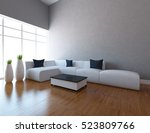 gray empty interior with a... | Shutterstock . vector #523809766