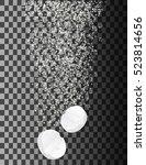 soluble pill on transparent... | Shutterstock .eps vector #523814656