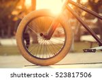 Bmx Rider On A Bike Is Ready T...