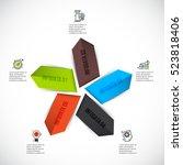 vector arrows infographic.... | Shutterstock .eps vector #523818406