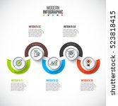 business data visualization....   Shutterstock .eps vector #523818415