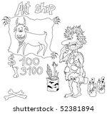 contour  prehistoric artist... | Shutterstock . vector #52381894