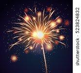 firework bursting sparkle...   Shutterstock .eps vector #523824832