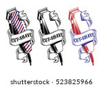 vector collection hair clippers ... | Shutterstock .eps vector #523825966