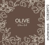 background with olive and olive ... | Shutterstock .eps vector #523828972