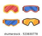 snowboard or ski goggles... | Shutterstock .eps vector #523830778