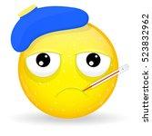 sick emoji. emotion of... | Shutterstock .eps vector #523832962