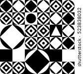 black and white geometric... | Shutterstock .eps vector #523838032