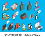 illustration of info graphic... | Shutterstock .eps vector #523839622
