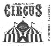 circus tent or marquee vector...   Shutterstock .eps vector #523840582