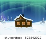 House In The Woods. The Snowy...