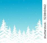christmas vector illustration... | Shutterstock .eps vector #523843462