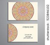 business card. vintage... | Shutterstock .eps vector #523846102