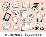 set of books doodles | Shutterstock .eps vector #523847665