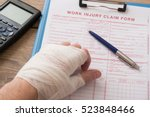worker injured hand filling a...