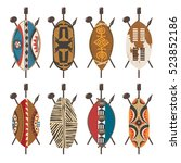 Set Of African Shields. Ethnic...