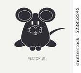 flat silhouette vector icon... | Shutterstock .eps vector #523853242